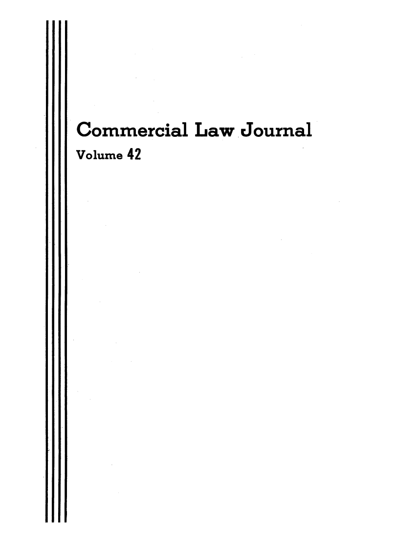 handle is hein.journals/clla42 and id is 1 raw text is: Commercial Law Journal