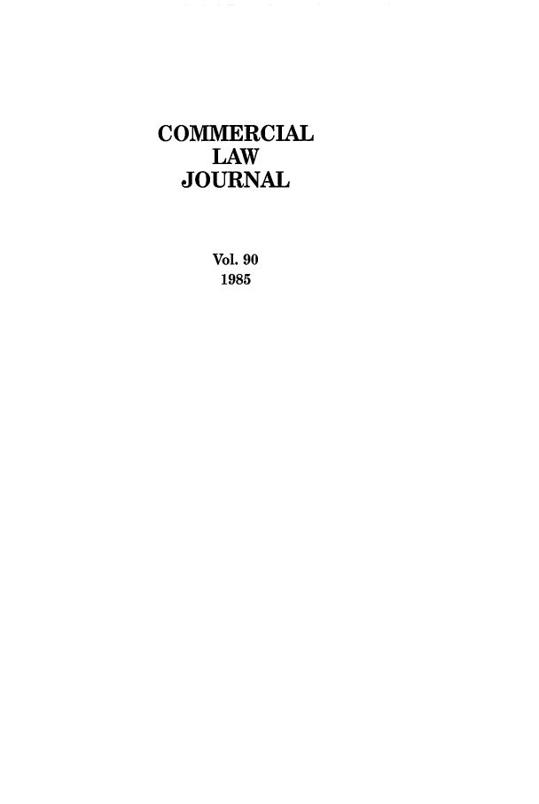 handle is hein.journals/clla90 and id is 1 raw text is: COMMERCIAL