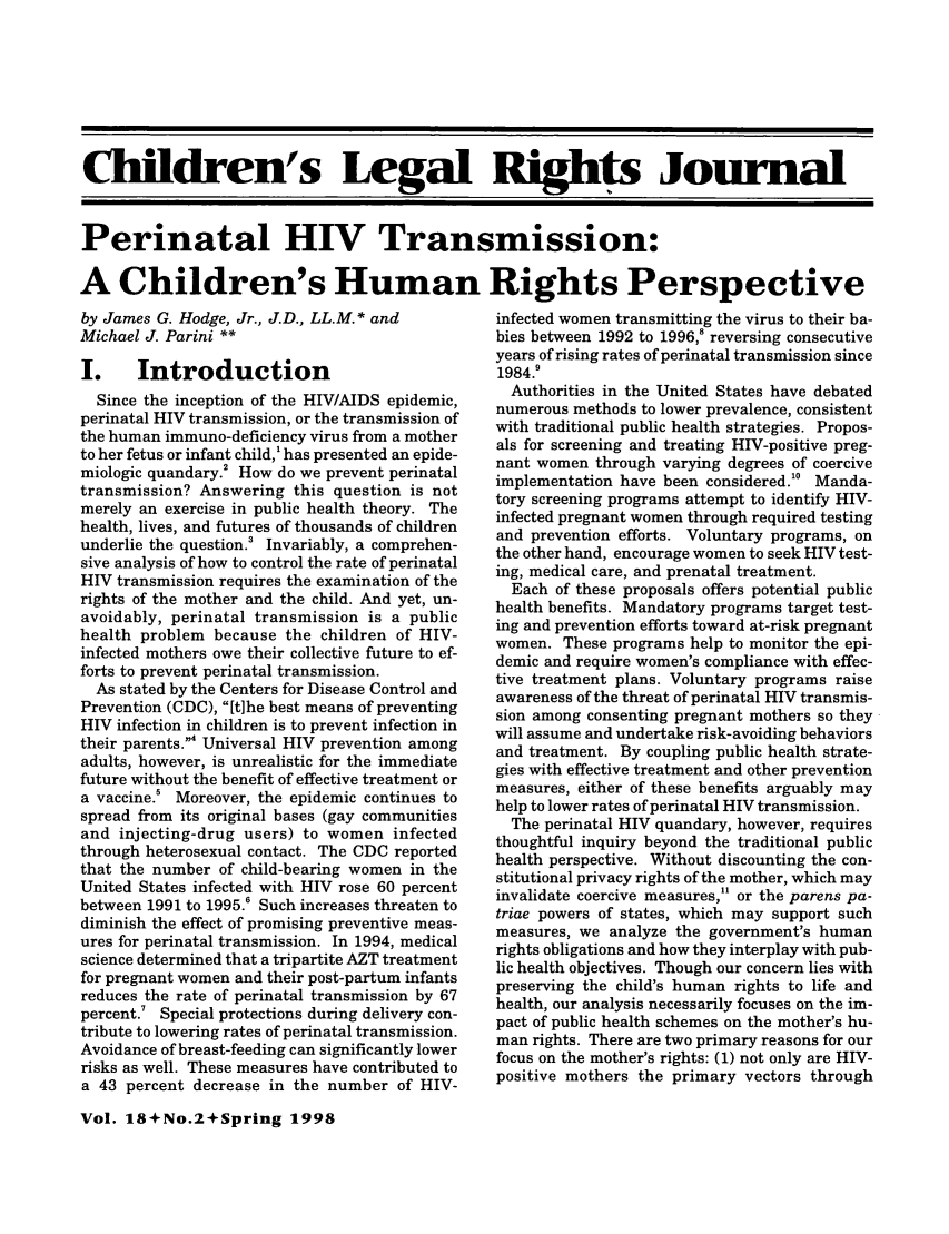 handle is hein.journals/clrj18 and id is 88 raw text is: Children's Legal Righ  Journal