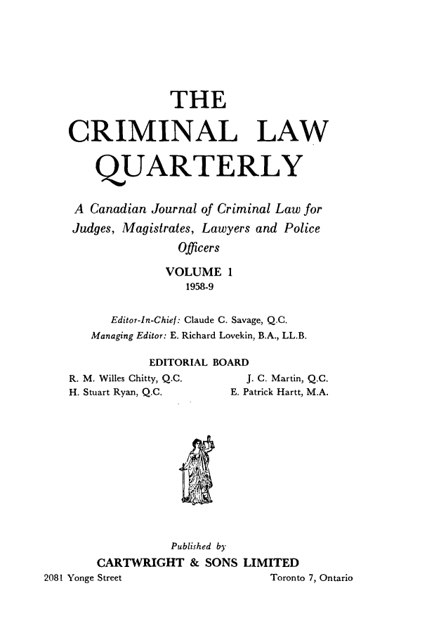 handle is hein.journals/clwqrty1 and id is 1 raw text is: THE