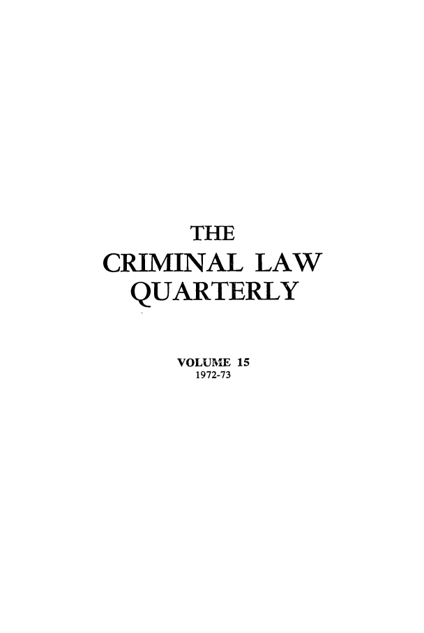 handle is hein.journals/clwqrty15 and id is 1 raw text is: THE