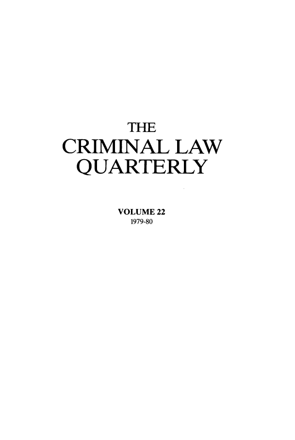 handle is hein.journals/clwqrty22 and id is 1 raw text is: THE