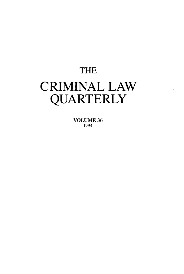 handle is hein.journals/clwqrty36 and id is 1 raw text is: THE