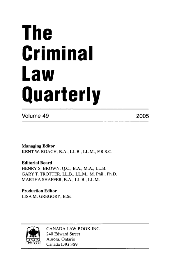 handle is hein.journals/clwqrty49 and id is 1 raw text is: The
