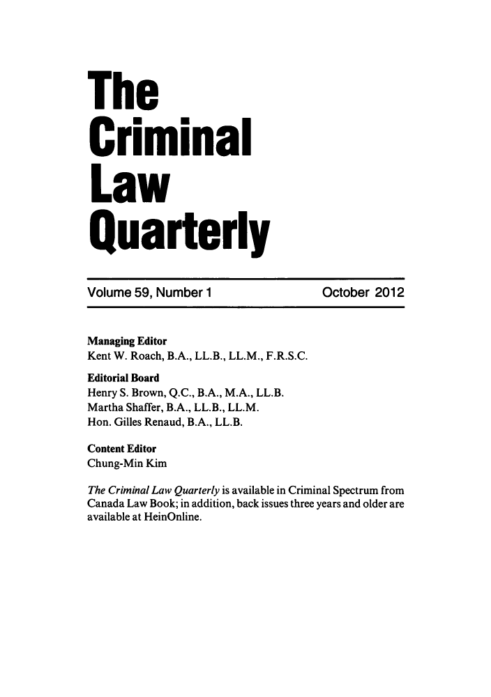 handle is hein.journals/clwqrty59 and id is 1 raw text is: The