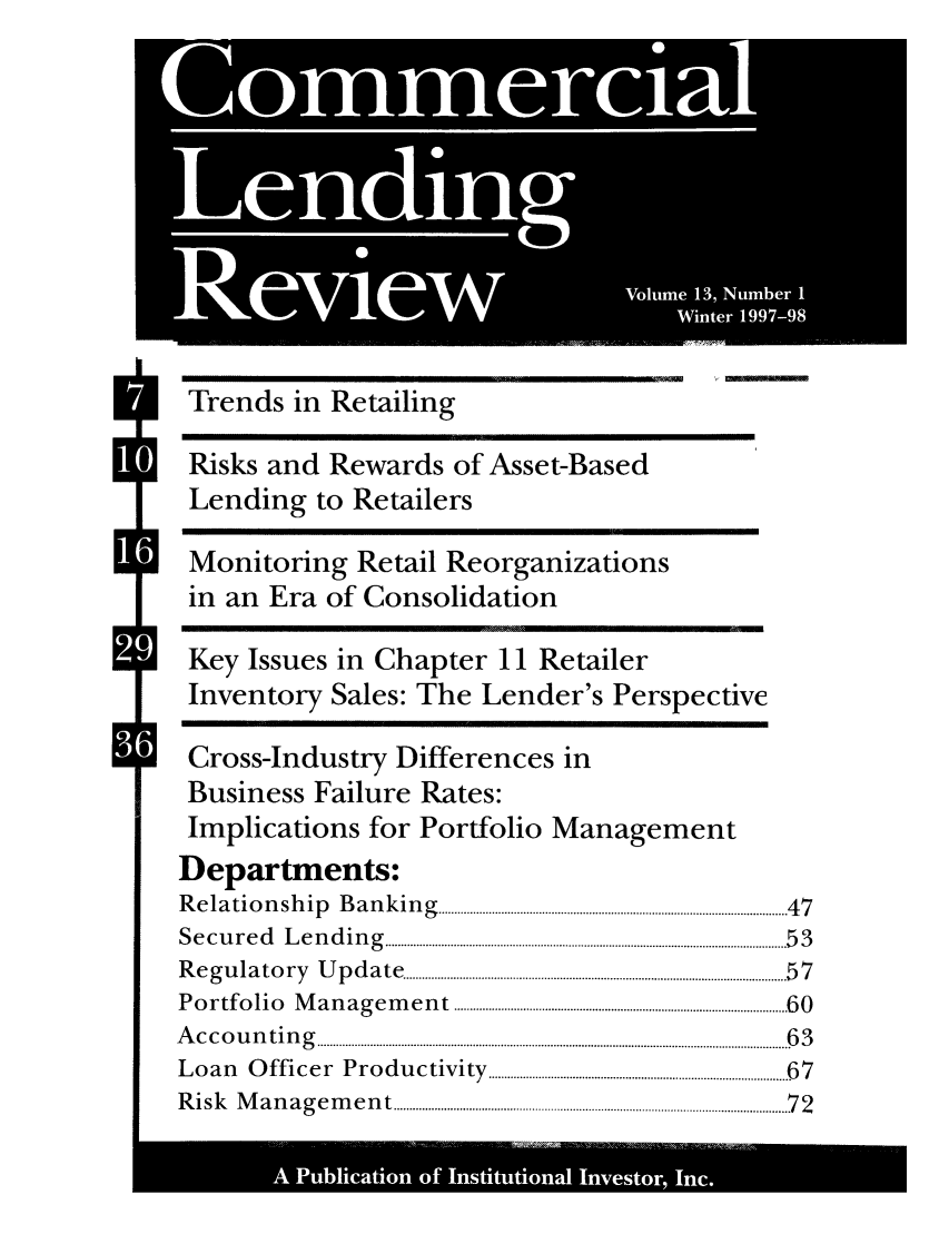 handle is hein.journals/cmlrv13 and id is 1 raw text is: ~0  0