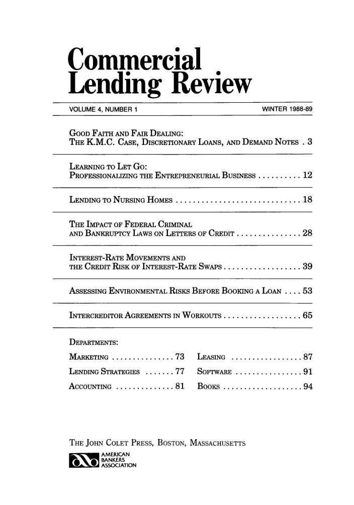 handle is hein.journals/cmlrv4 and id is 1 raw text is: Commercial