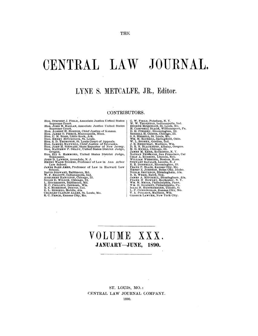 handle is hein.journals/cntrlwj30 and id is 1 raw text is: THE