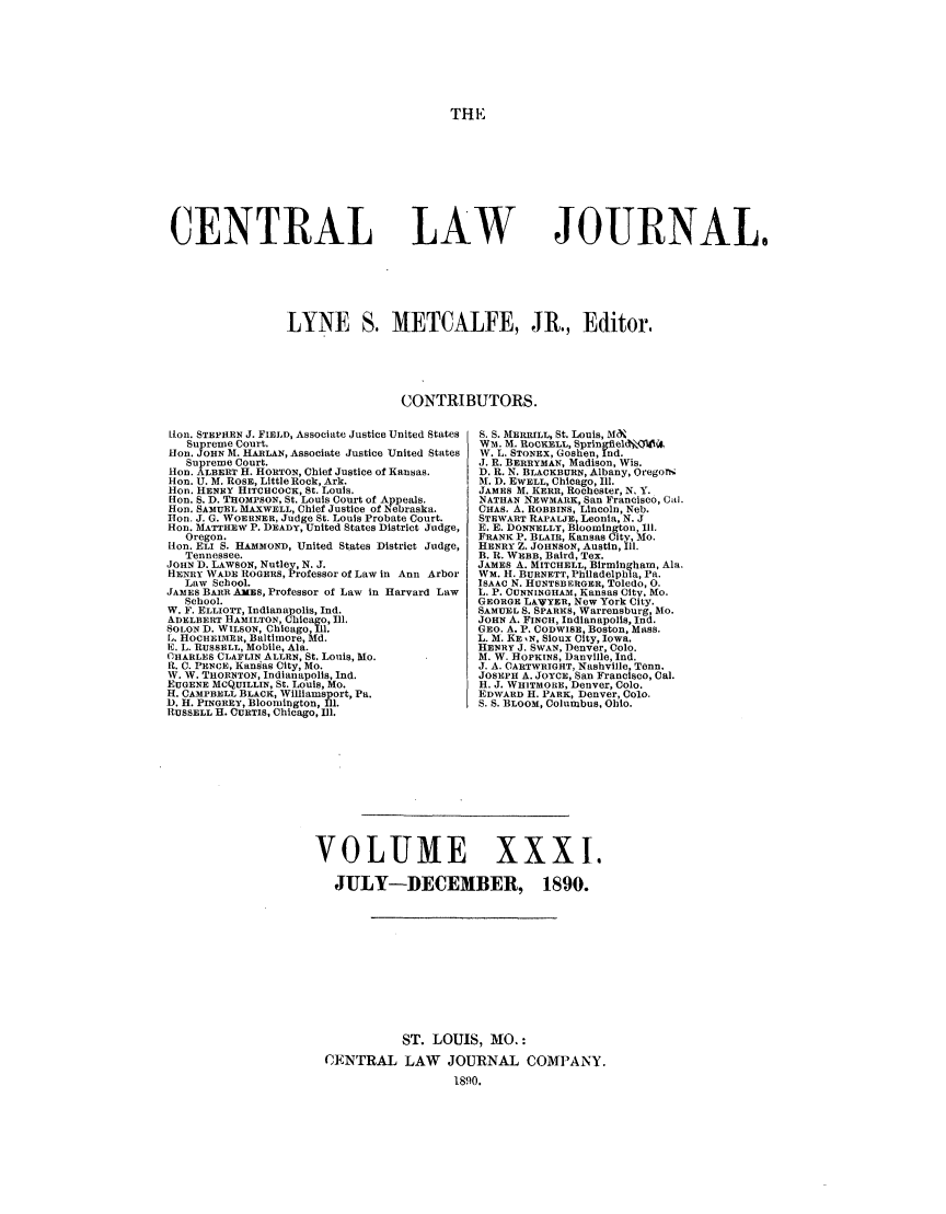 handle is hein.journals/cntrlwj31 and id is 1 raw text is: THE