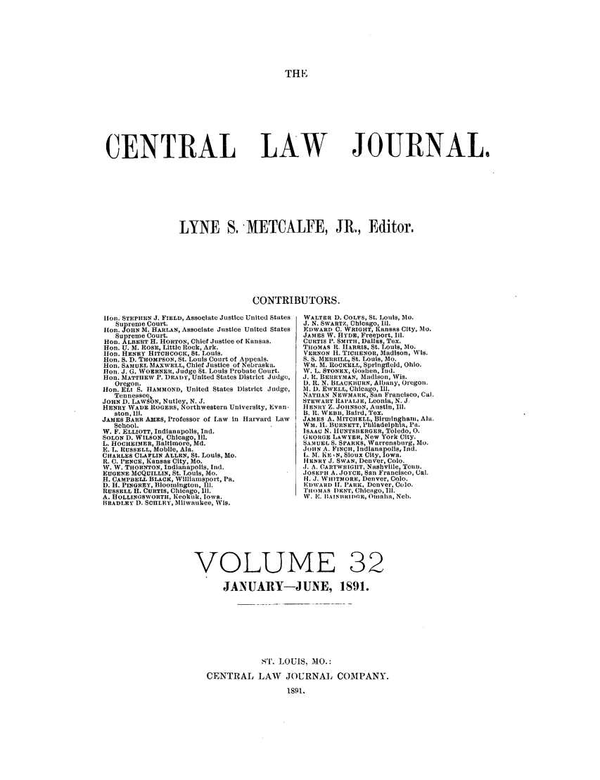 handle is hein.journals/cntrlwj32 and id is 1 raw text is: THE