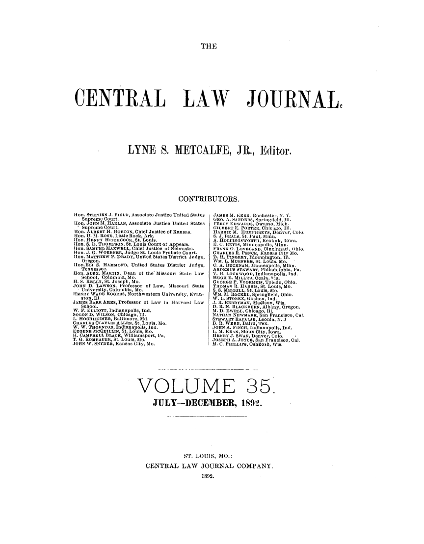 handle is hein.journals/cntrlwj35 and id is 1 raw text is: THE