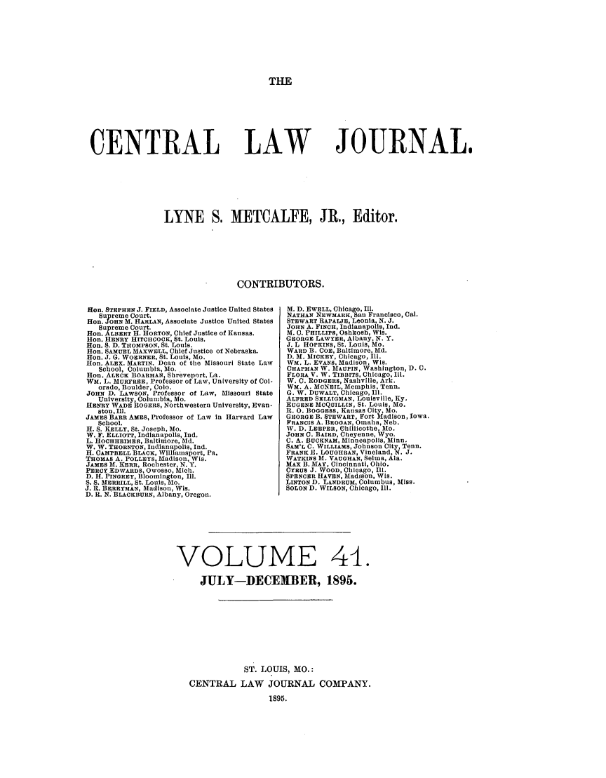 handle is hein.journals/cntrlwj41 and id is 1 raw text is: THE