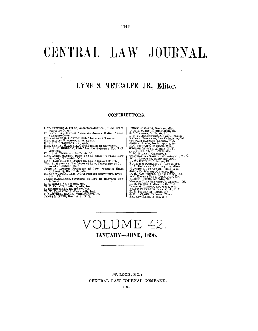 handle is hein.journals/cntrlwj42 and id is 1 raw text is: THE