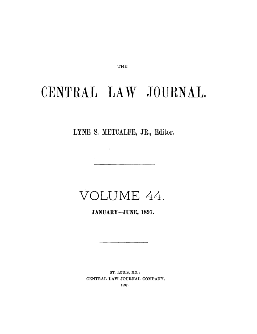 handle is hein.journals/cntrlwj44 and id is 1 raw text is: THE