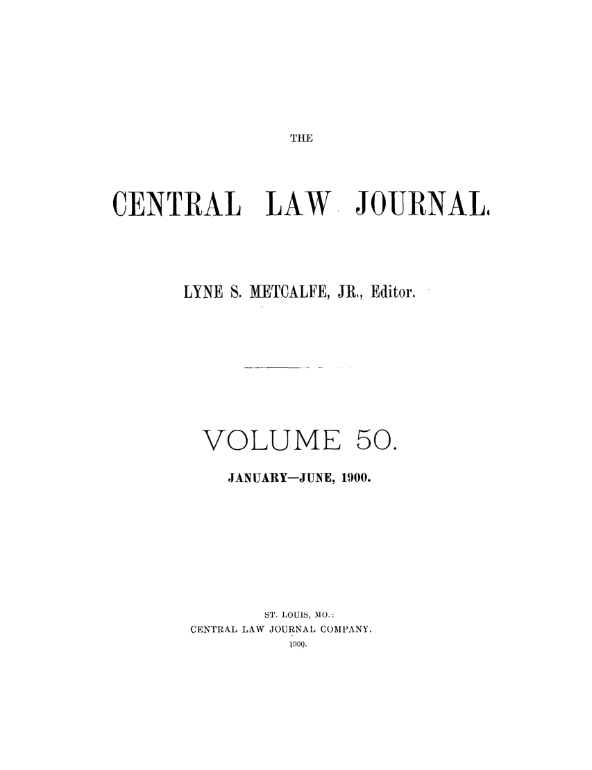 handle is hein.journals/cntrlwj50 and id is 1 raw text is: THE