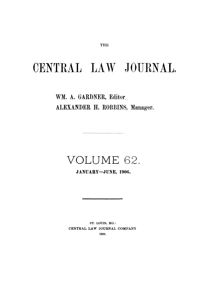 handle is hein.journals/cntrlwj62 and id is 1 raw text is: THE