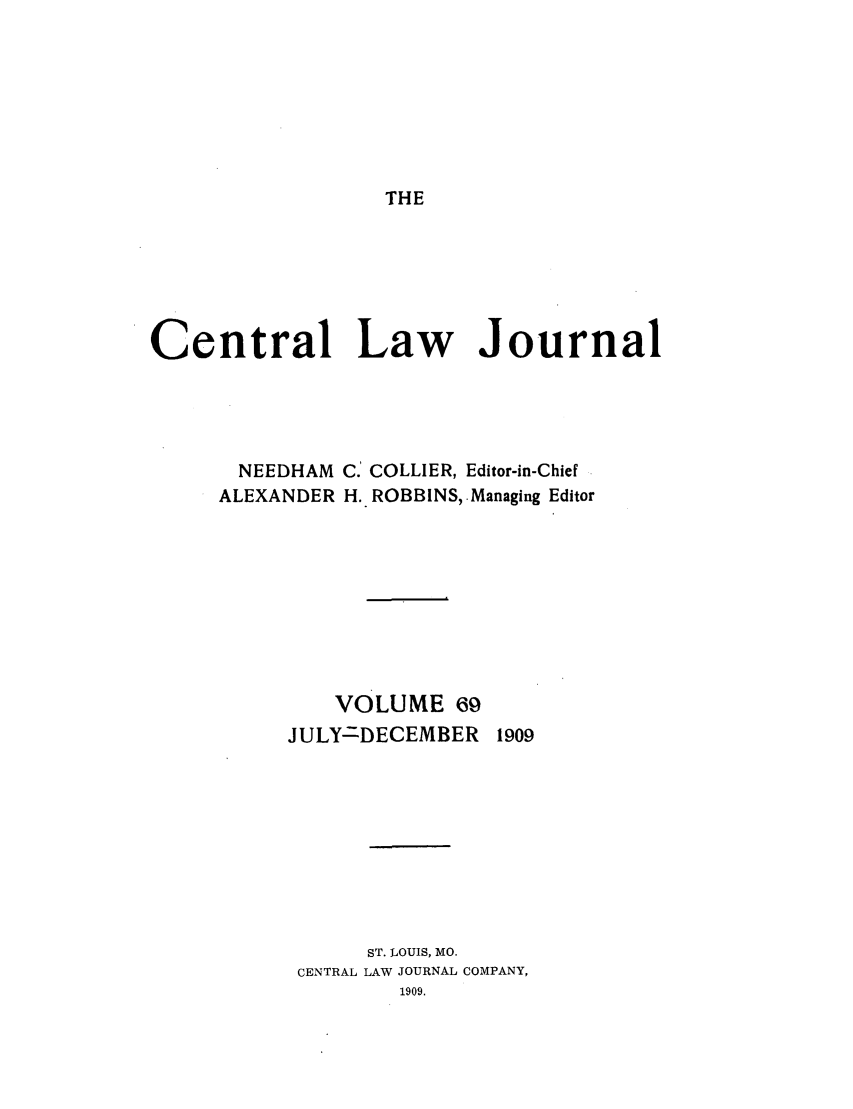 handle is hein.journals/cntrlwj69 and id is 1 raw text is: THE
