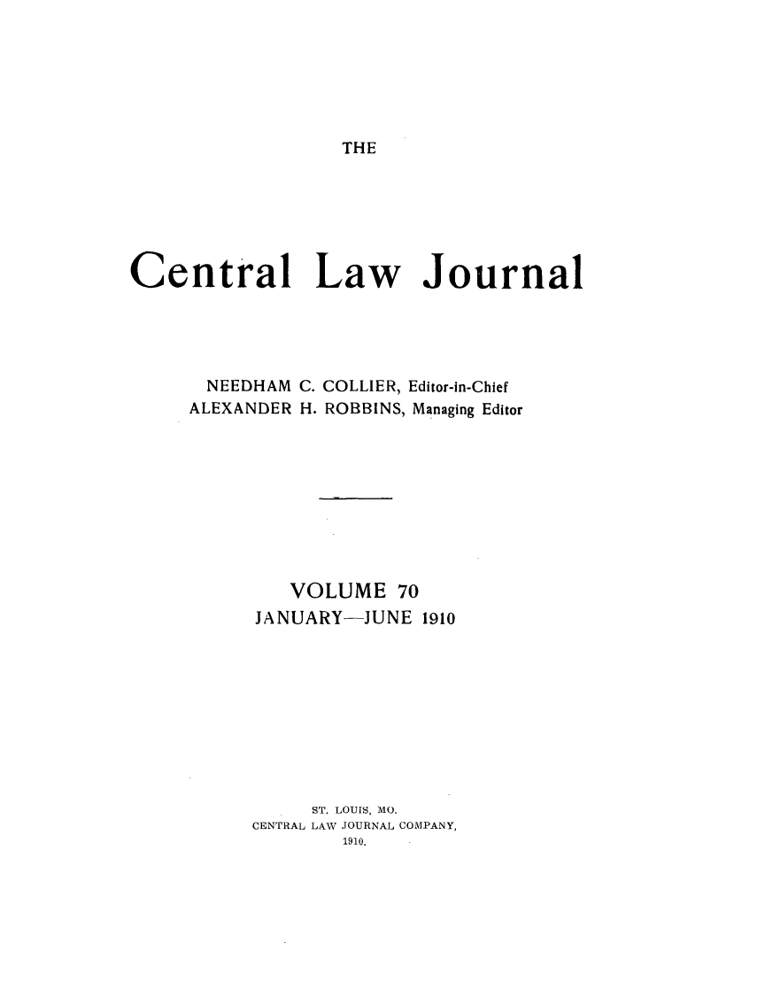 handle is hein.journals/cntrlwj70 and id is 1 raw text is: THE