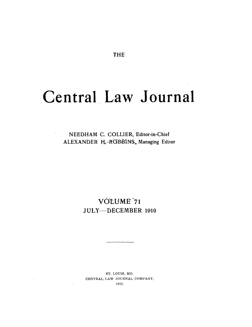 handle is hein.journals/cntrlwj71 and id is 1 raw text is: THE