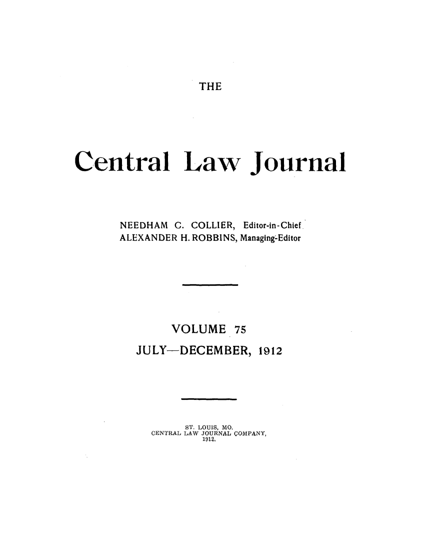 handle is hein.journals/cntrlwj75 and id is 1 raw text is: THE
