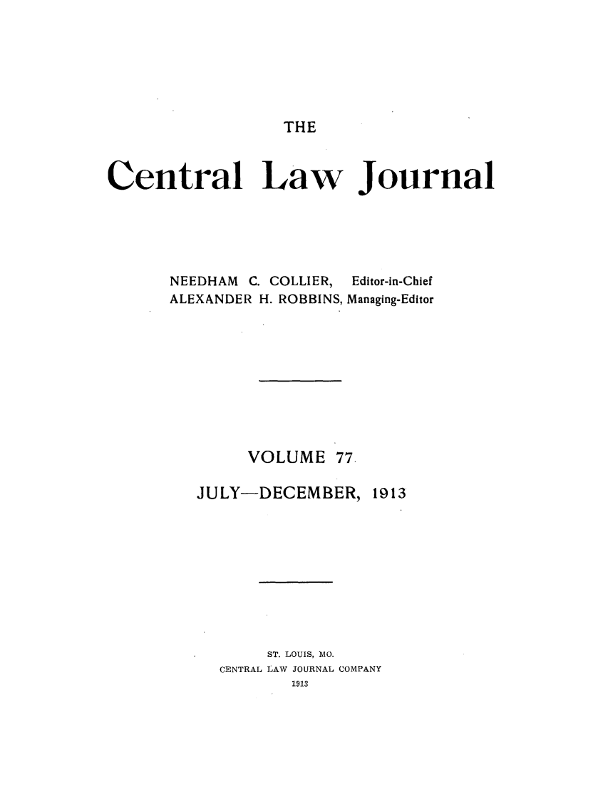handle is hein.journals/cntrlwj77 and id is 1 raw text is: THE