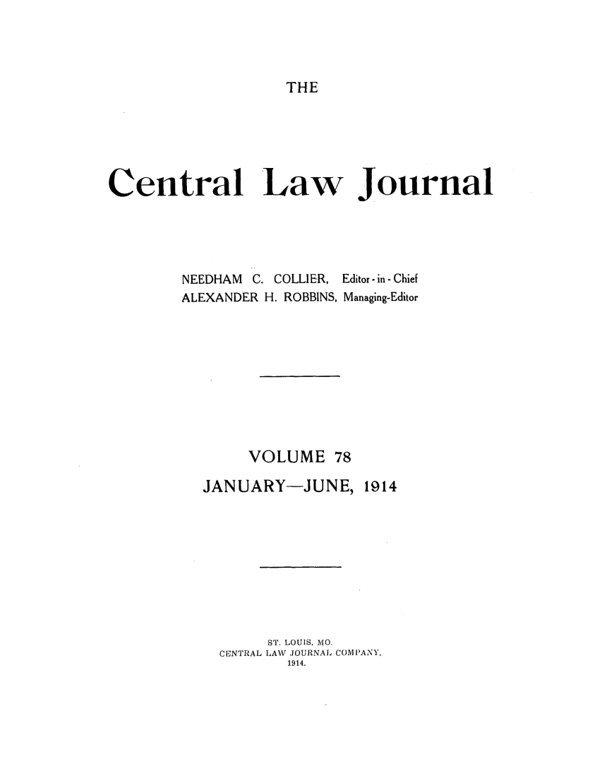 handle is hein.journals/cntrlwj78 and id is 1 raw text is: THE