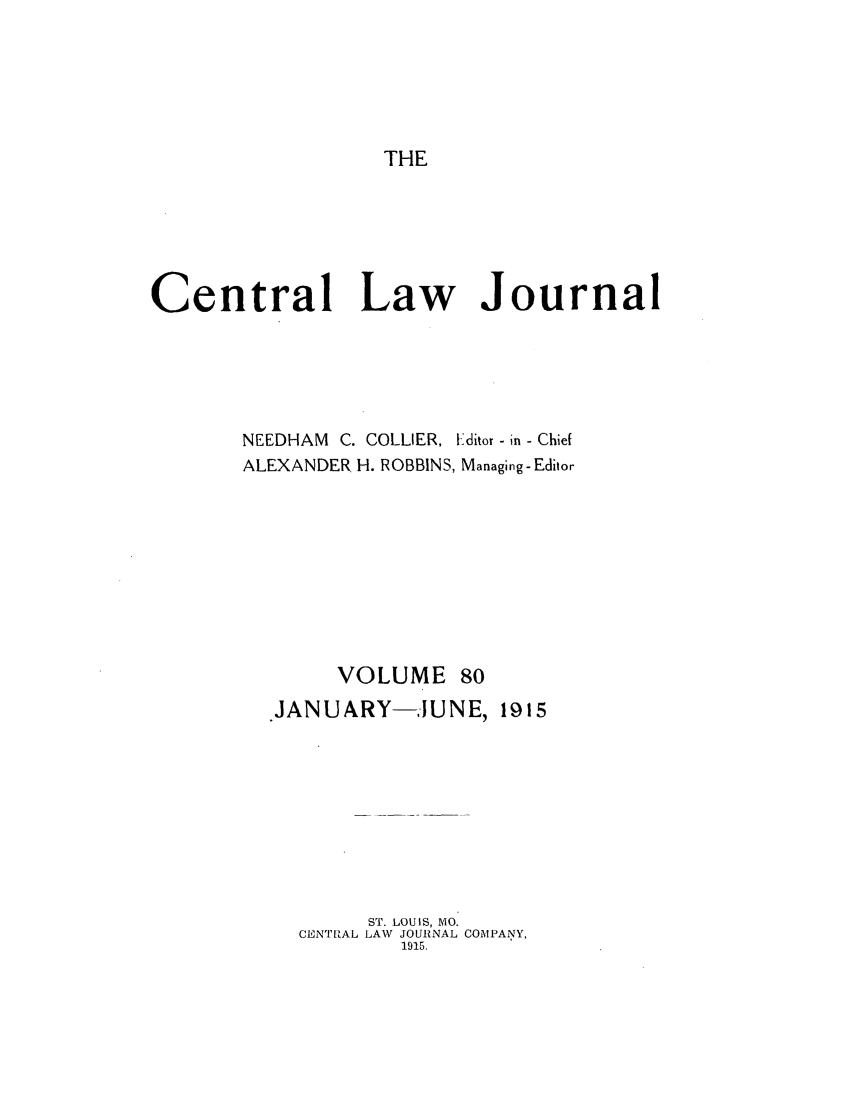 handle is hein.journals/cntrlwj80 and id is 1 raw text is: THE