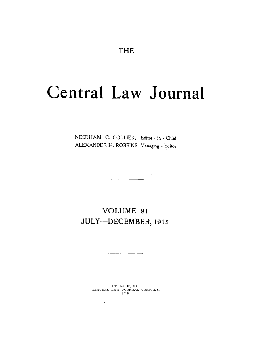 handle is hein.journals/cntrlwj81 and id is 1 raw text is: THE
