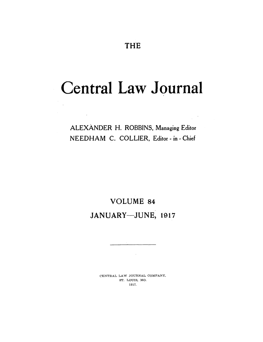 handle is hein.journals/cntrlwj84 and id is 1 raw text is: THE