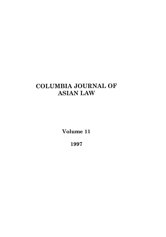handle is hein.journals/colas11 and id is 1 raw text is: COLUMBIA JOURNAL OF