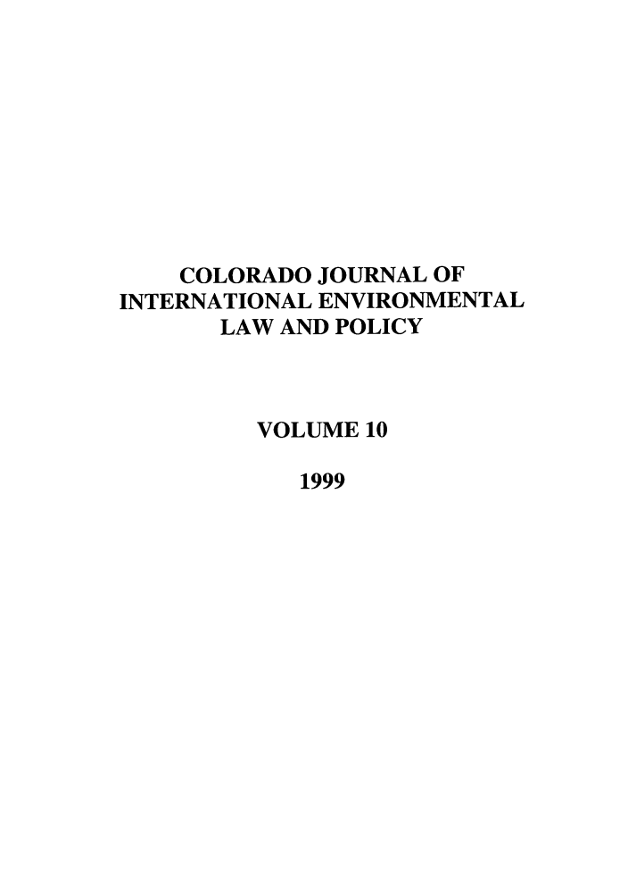 handle is hein.journals/colenvlp10 and id is 1 raw text is: COLORADO JOURNAL OF