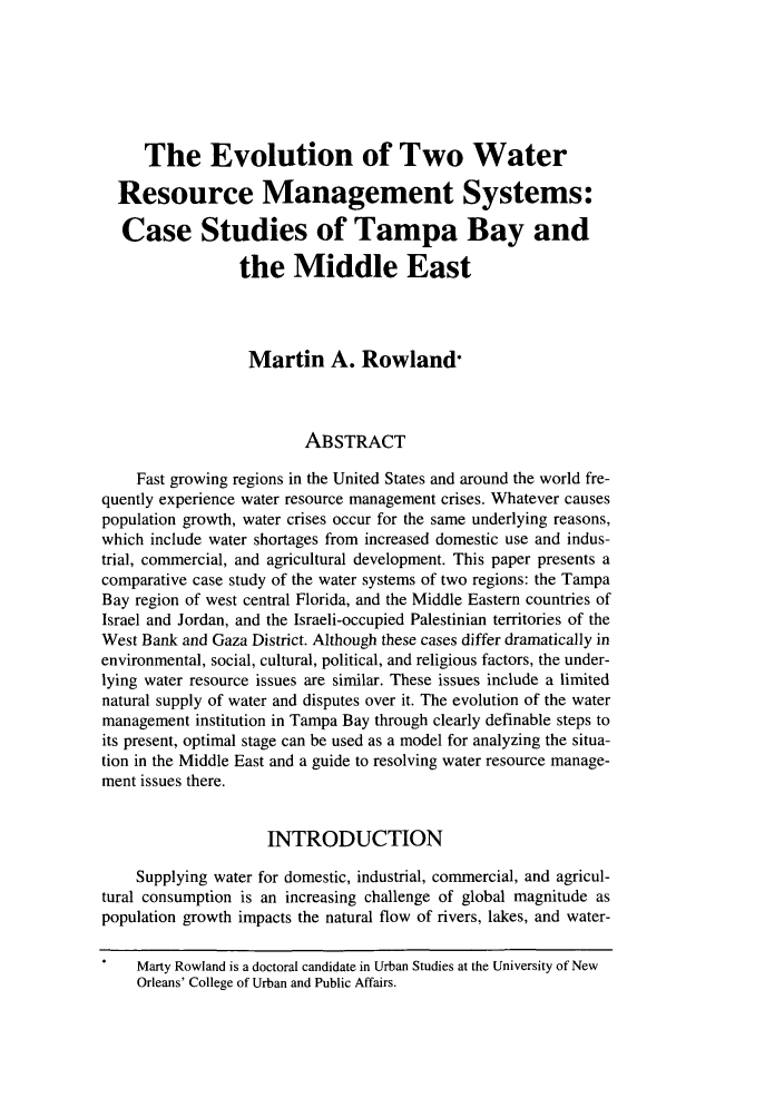 handle is hein.journals/colenvlp11 and id is 423 raw text is: The Evolution of Two Water