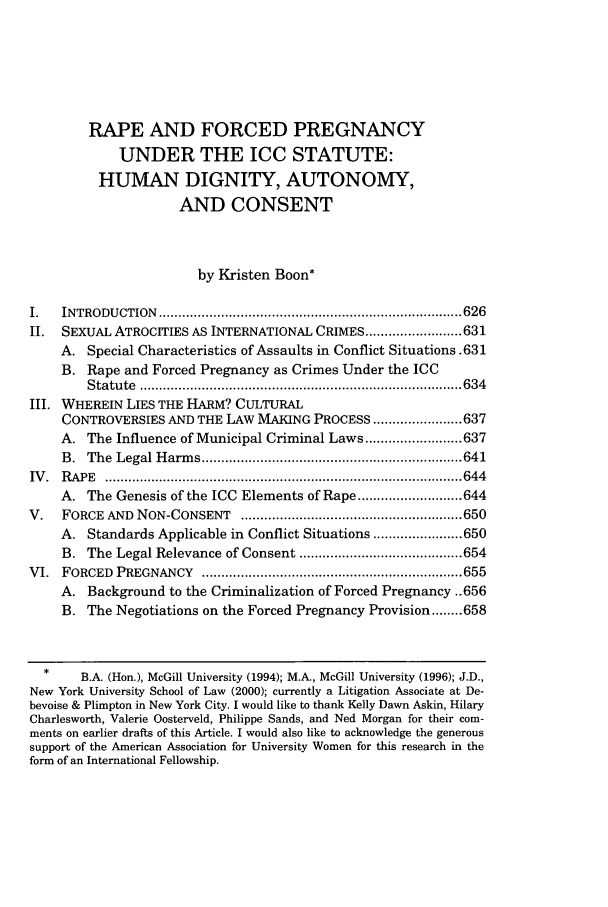 handle is hein.journals/colhr32 and id is 633 raw text is: RAPE AND FORCED PREGNANCY