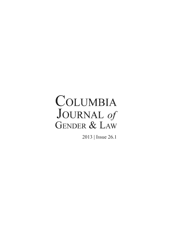 handle is hein.journals/coljgl26 and id is 1 raw text is: COLUMBIA