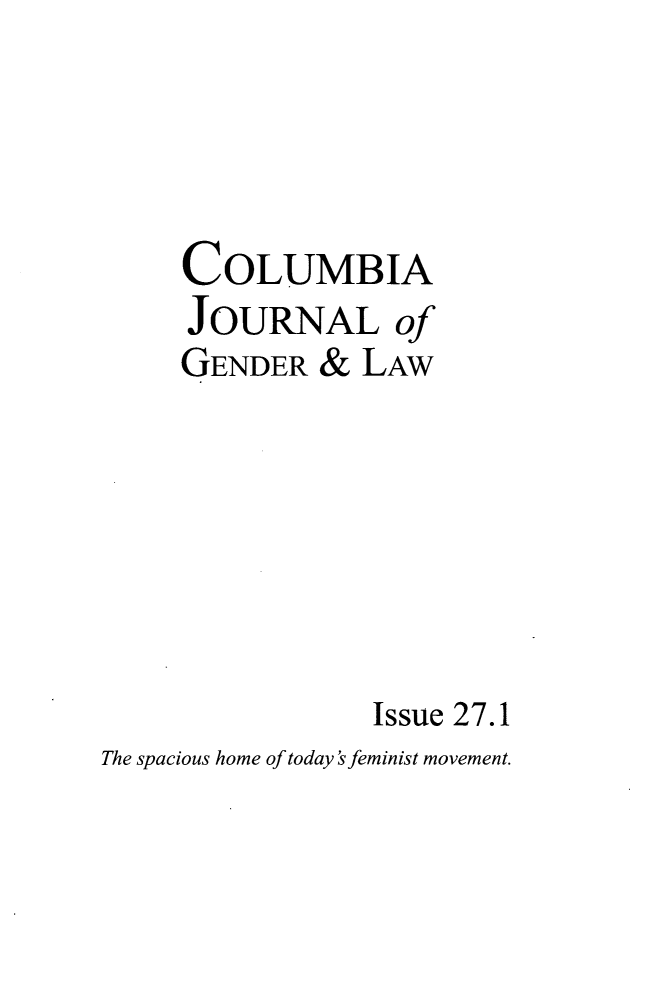 handle is hein.journals/coljgl27 and id is 1 raw text is: COLUMBIA