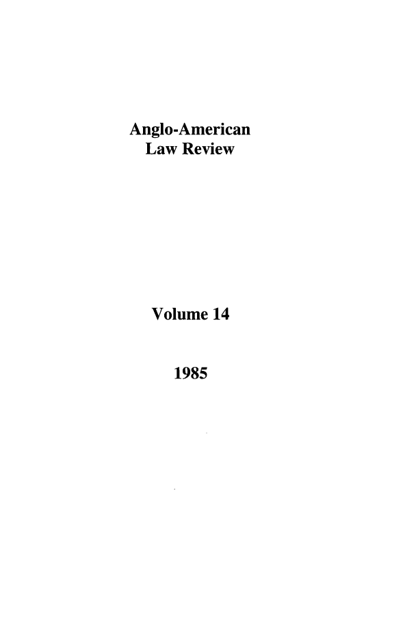handle is hein.journals/comlwr14 and id is 1 raw text is: Anglo-American