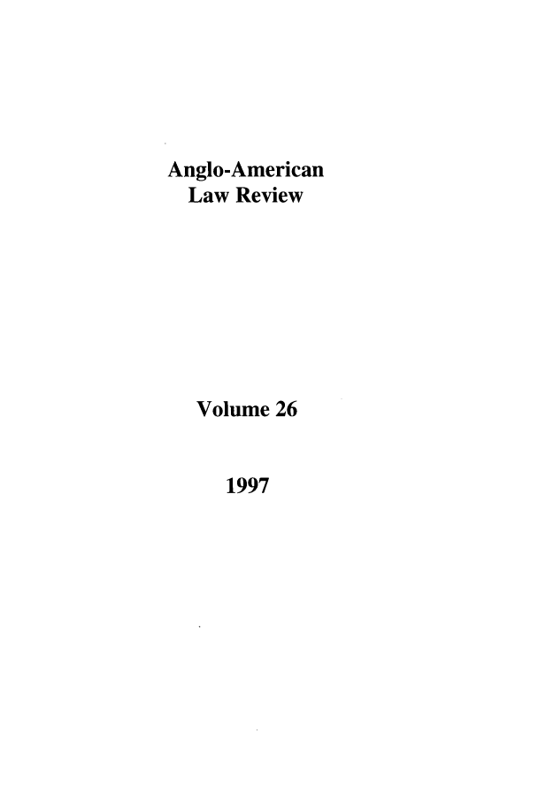 handle is hein.journals/comlwr26 and id is 1 raw text is: Anglo-American