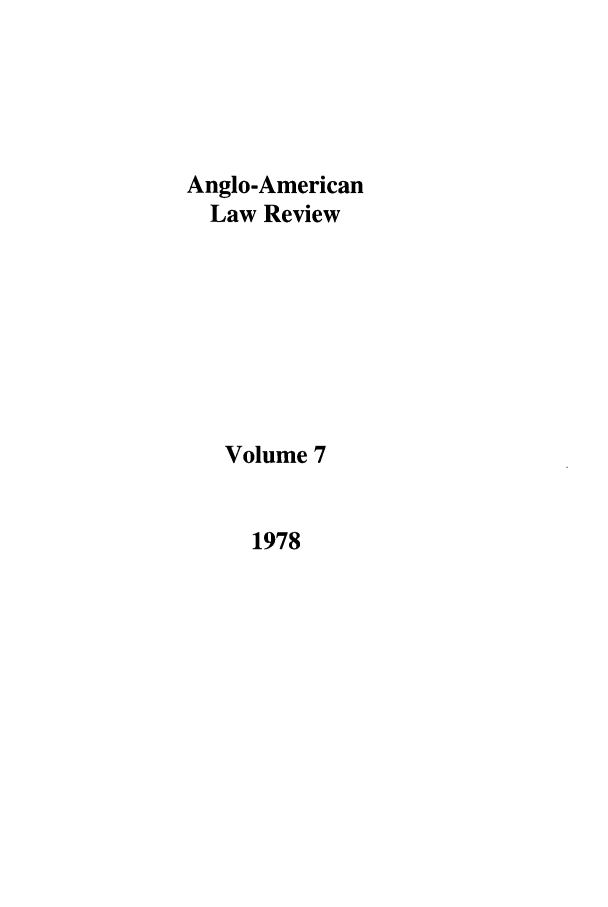 handle is hein.journals/comlwr7 and id is 1 raw text is: Anglo-American
