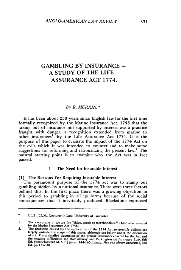 handle is hein.journals/comlwr9 and id is 341 raw text is: ANGLO-AMERICAN LAW REVIEW