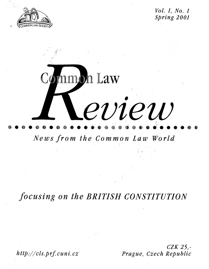 handle is hein.journals/comnlrevi1 and id is 1 raw text is: Vol. 1, No. 1