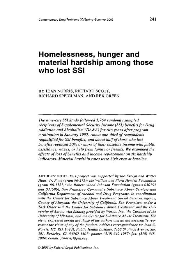 handle is hein.journals/condp30 and id is 251 raw text is: Contemporary Drug Problems 30/Spring-Summer 2003