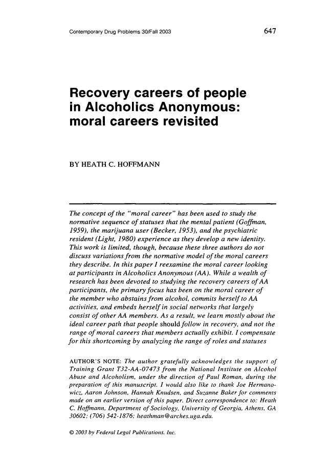 handle is hein.journals/condp30 and id is 657 raw text is: Contemporary Drug Problems 30/Fall 2003