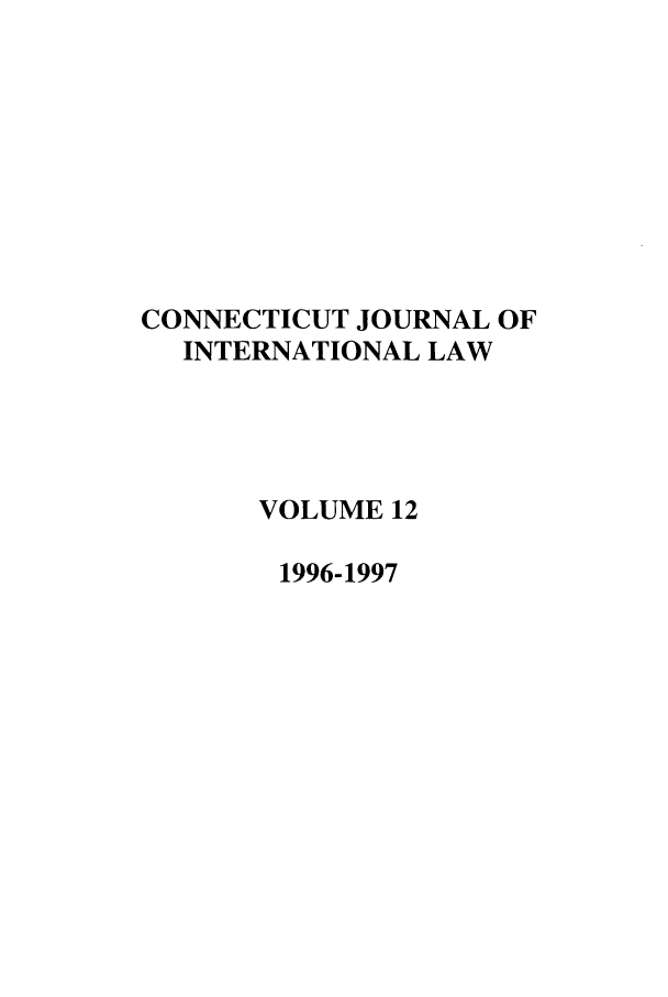 handle is hein.journals/conjil12 and id is 1 raw text is: CONNECTICUT JOURNAL OF