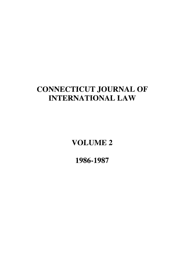 handle is hein.journals/conjil2 and id is 1 raw text is: CONNECTICUT JOURNAL OF