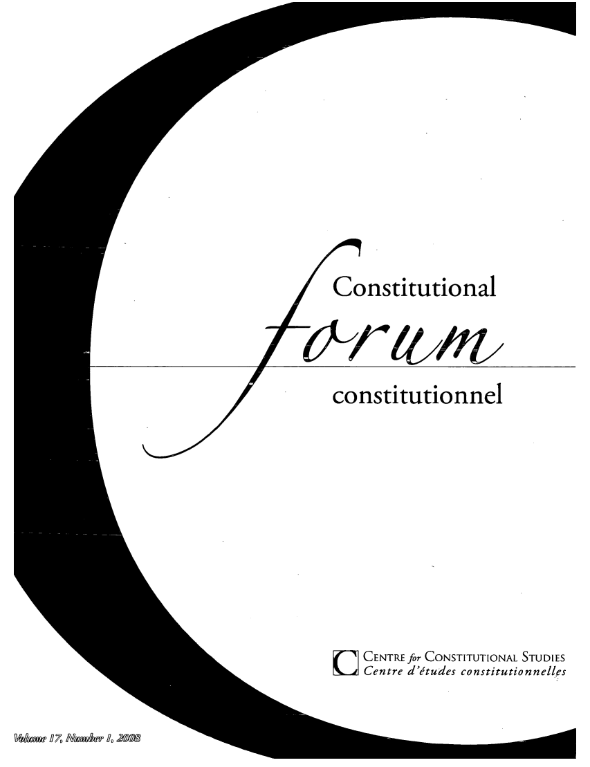 handle is hein.journals/consfo17 and id is 1 raw text is: Constitutional