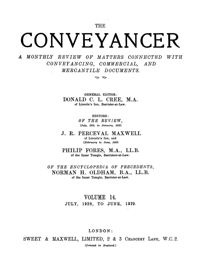 handle is hein.journals/convplr14 and id is 1 raw text is: THE