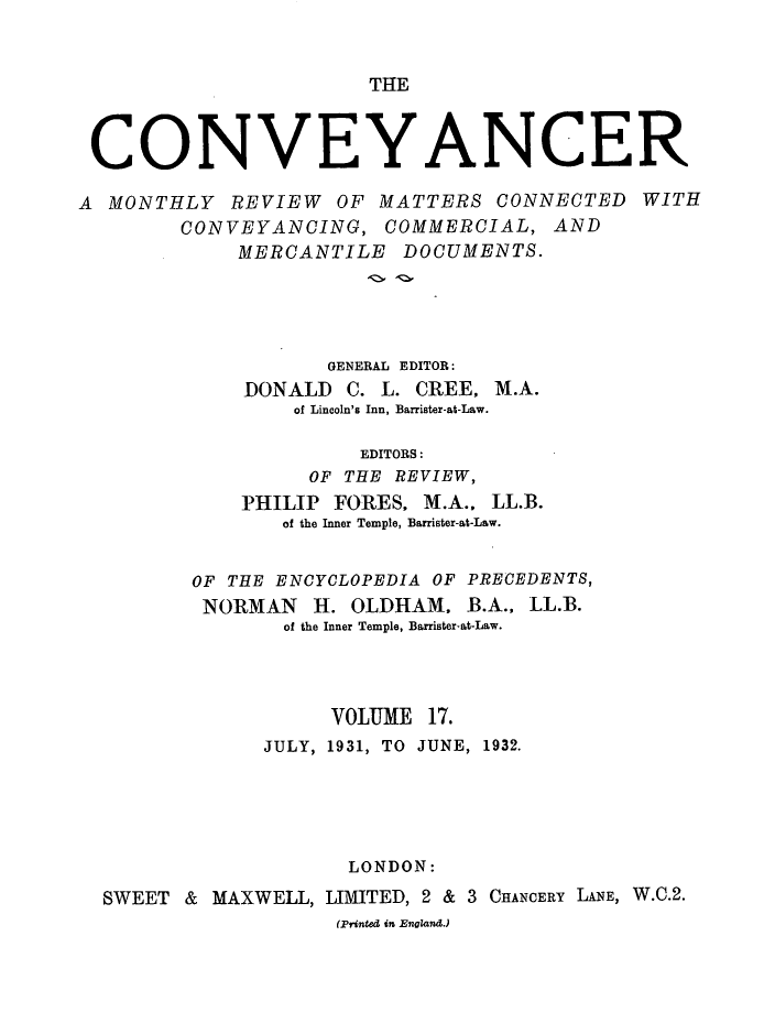 handle is hein.journals/convplr17 and id is 1 raw text is: THE