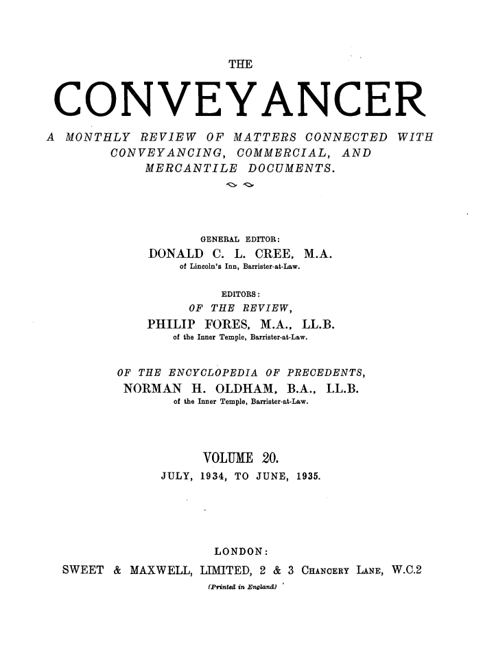 handle is hein.journals/convplr20 and id is 1 raw text is: THE