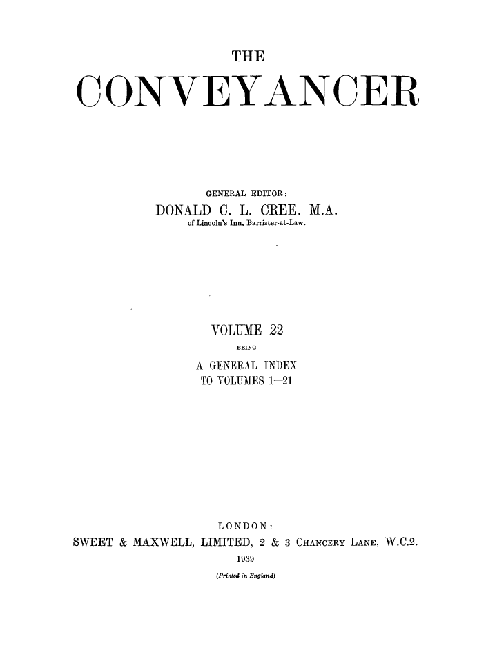 handle is hein.journals/convplr23 and id is 1 raw text is: THE