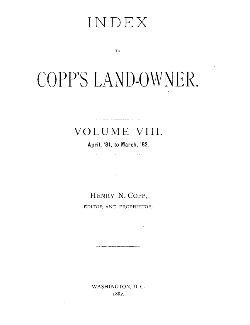 handle is hein.journals/coplndow8 and id is 1 raw text is: INDEX